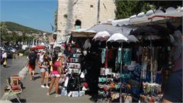 The marketplace in Split, Croatia