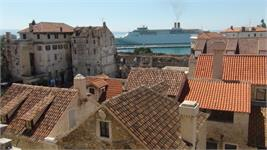 Split Croatia With Cruise Ship