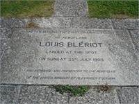 After making the first channel flight by aeroplane, Louis Bleriot landed at this spot on Sunday 25th July 1909.  This memorial was presented to the Aero Club of the United Kingdom by Alexander Buckham.