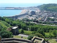 A view of Dover Harbor from the castle.