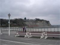 On the boardwalk at Penarth Pier in Wales