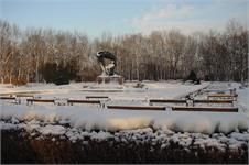 Statue of Chopin, much more inviting when it is not 20 below zero! Chopin in the Park Anyone?