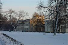 Warsaw castle in winter