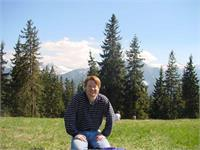 Mark Hazleton In Zakopane.  Enjoying the great view and beautiful weather.