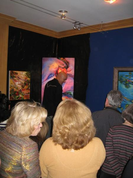 JD Miller Paints Live at Reflection Fine Art in Dallas, Texas