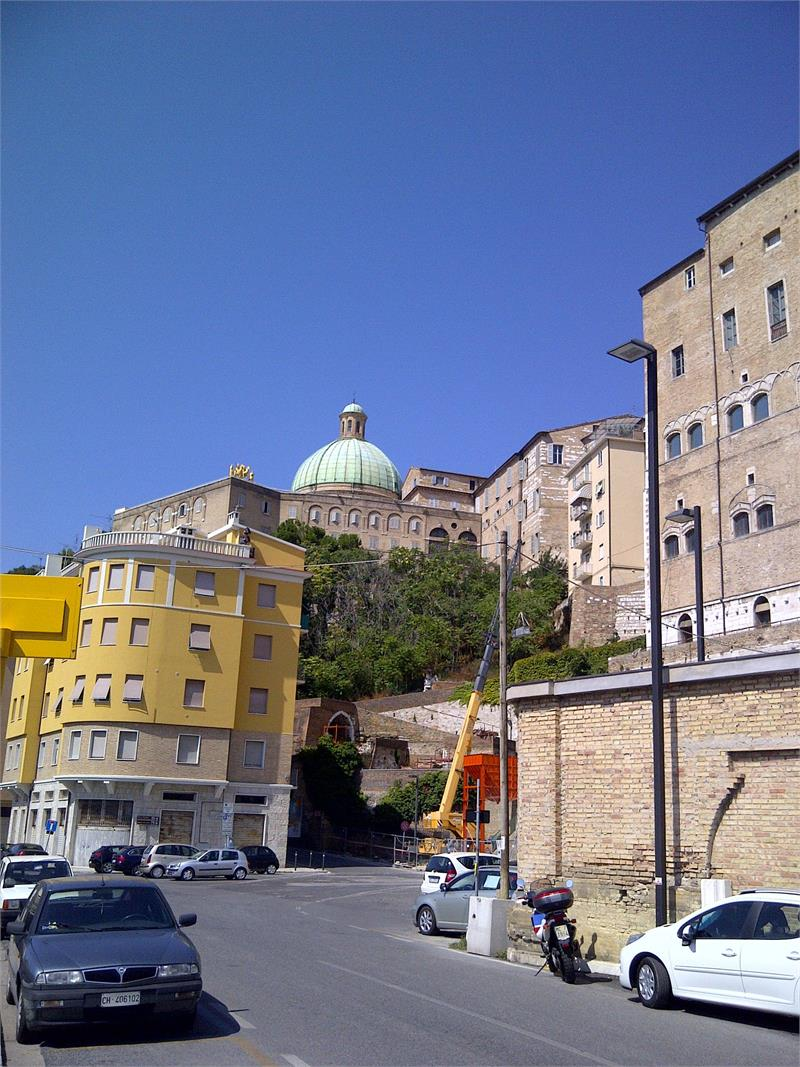Church on hill in Ancona