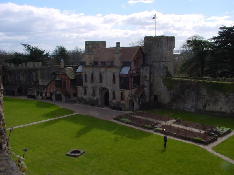 A view from the tower, this is the main courtyard