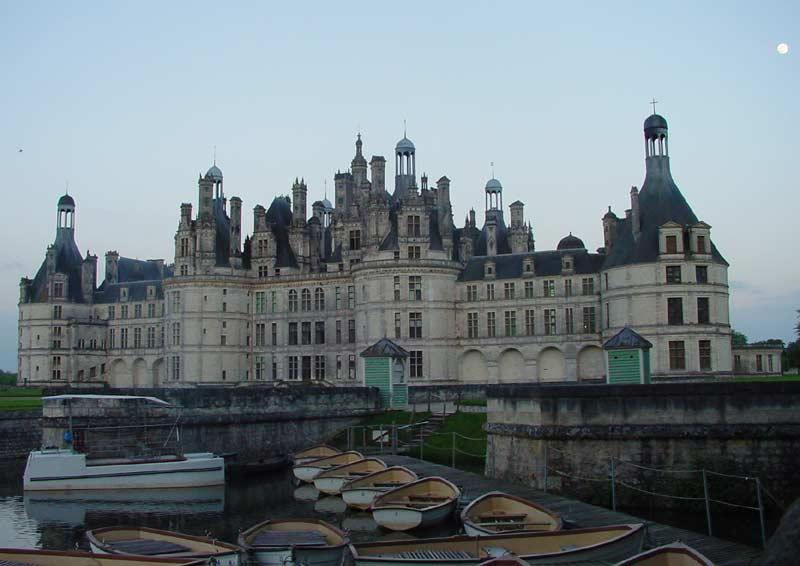All the boats are put up for the night.  We had a late arrival at Chambord and were not able to see the inside.  Another visit I guess.