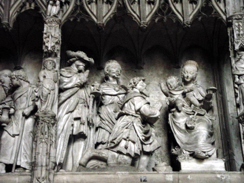 Statues at the Cathedral in Chartres