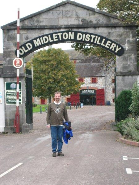We had to stop at the Jaemson Old Middleton Distillery for a tour and tasting.  Jonthan stopped for a quick picture at the entrance gates.