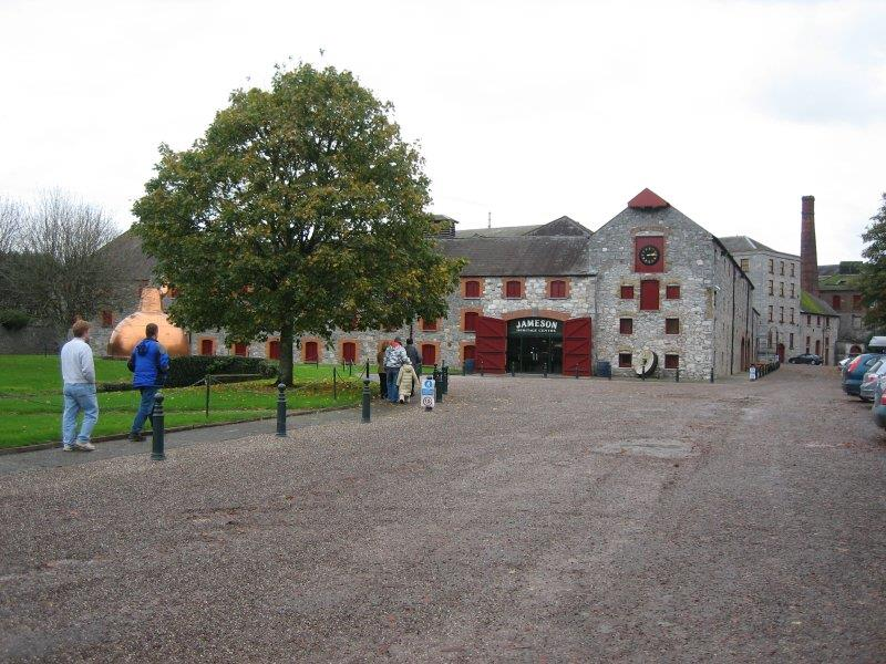 Here is the entrance to the Jameson Old Middleton Distillery.