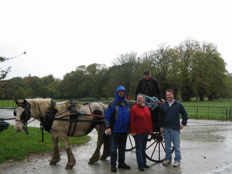 Our Jaunty Cart ride, great fun in the rain