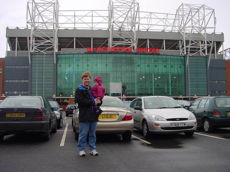 Man U stadium, a bit like going to Texas stadium, there was a giant shop of Manchester United gear inside the stadium, we went to see if Marlis could bend it like beckham!