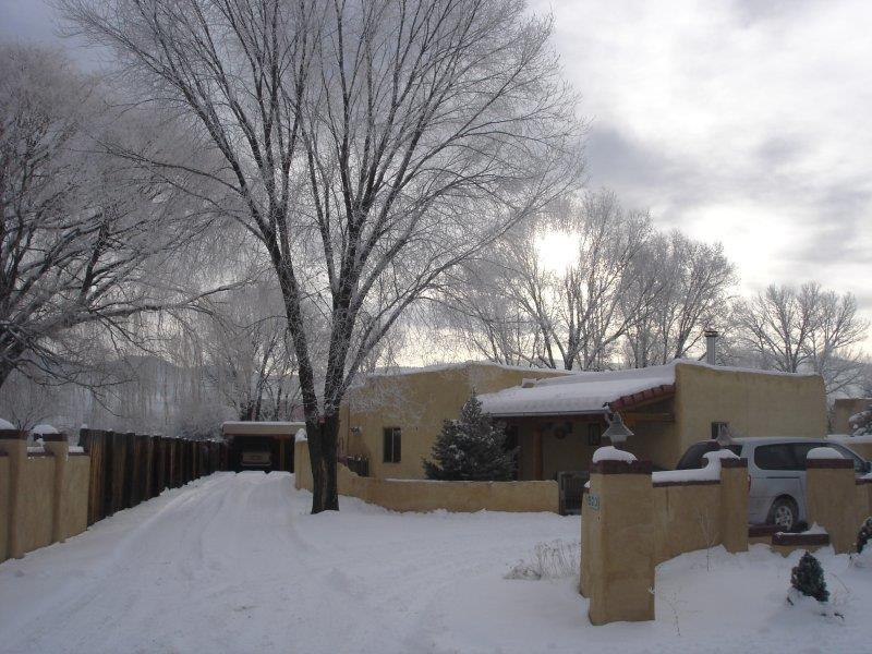 Taos Snow Coverd Adobe House