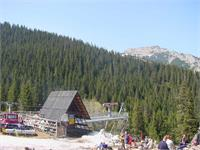 Here is the base of the ski lift